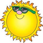 smiling sunshine icon