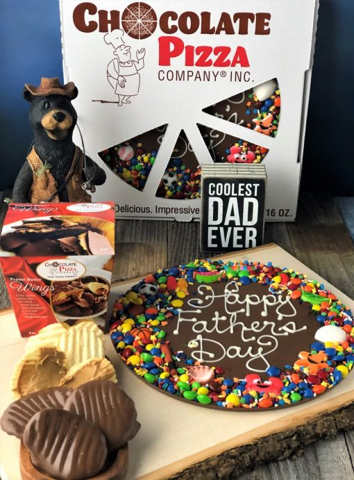 Fathers Day Chocolate Pizza and peanut butter wings
